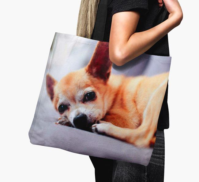 Canvas Bag with photo of your Chihuahua