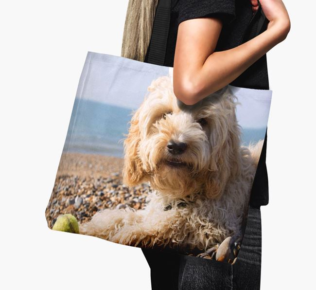 Canvas Bag with photo of your Cockapoo