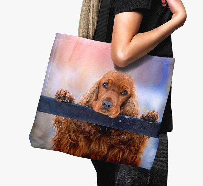Canvas Bag with photo of your Cocker Spaniel