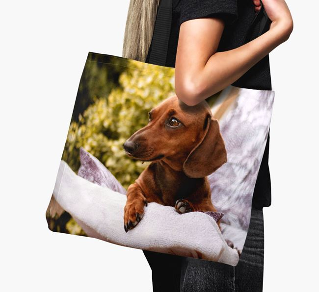 Canvas Bag with photo of your Dachshund