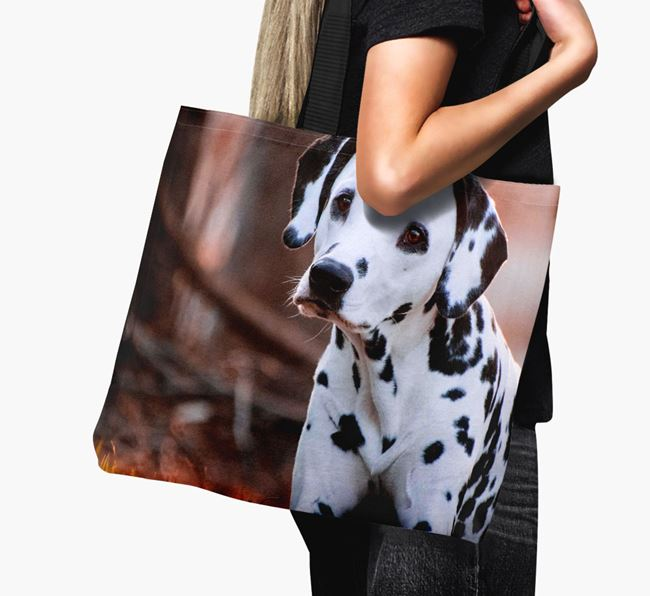 Canvas Bag with photo of your Dalmatian