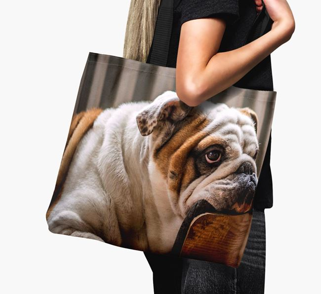 Canvas Bag with photo of your English Bulldog