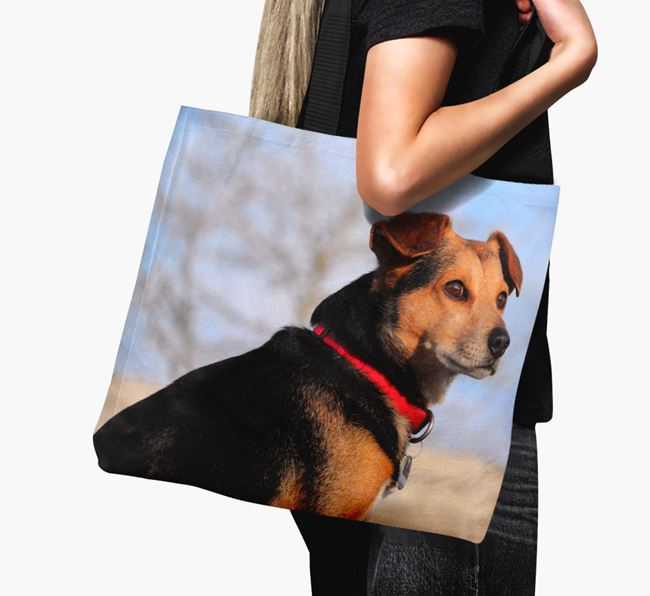 Canvas Bag with photo of your Flat-Coated Retriever