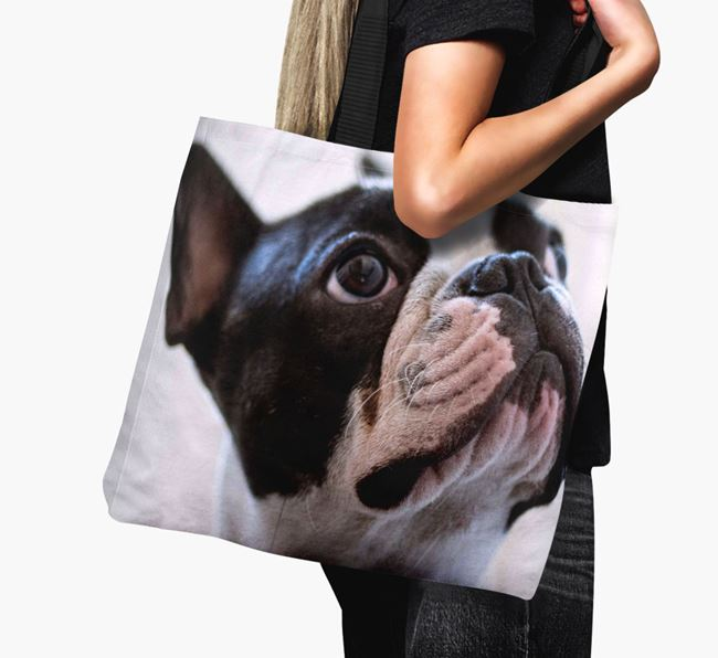 Canvas Bag with photo of your French Bulldog