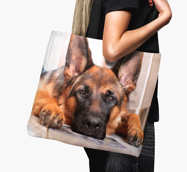 Canvas Bag with photo of your German Shepherd