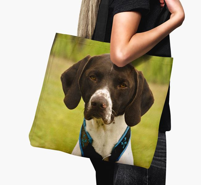 Canvas Bag with photo of your German Shorthaired Pointer