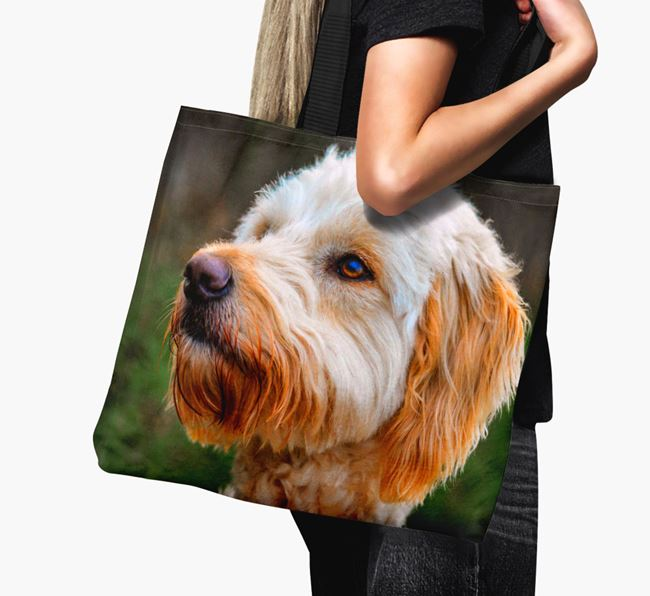 Canvas Bag with photo of your Goldendoodle