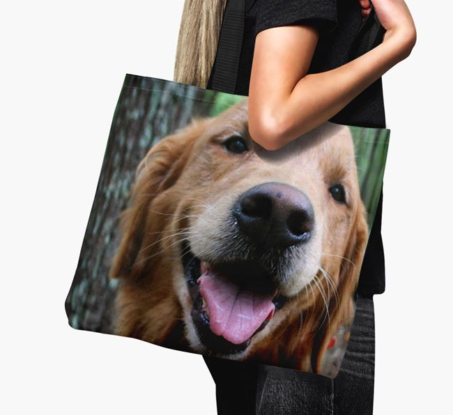 Canvas Bag with photo of your Golden Retriever