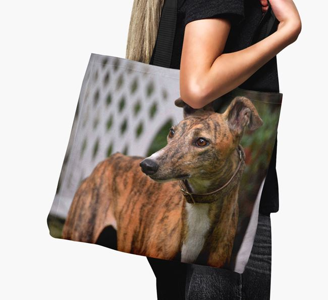 Canvas Bag with photo of your Greyhound