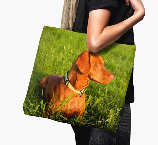 Canvas Bag with photo of your Hungarian Vizsla