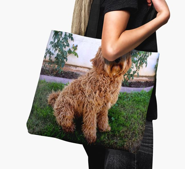 Canvas Bag with photo of your Labradoodle