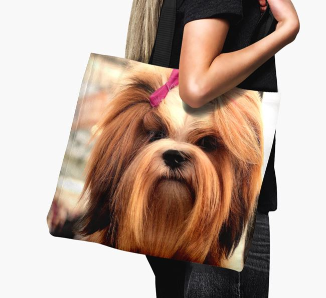 Canvas Bag with photo of your Lhasa Apso
