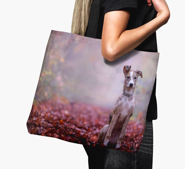 Canvas Bag with photo of your Lurcher