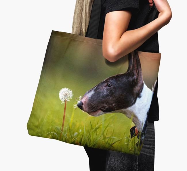 Canvas Bag with photo of your Miniature Bull Terrier