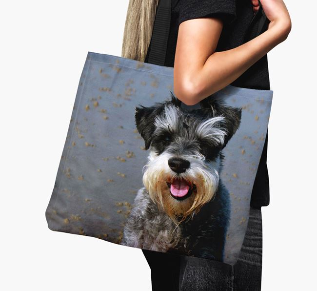 Canvas Bag with photo of your Miniature Schnauzer