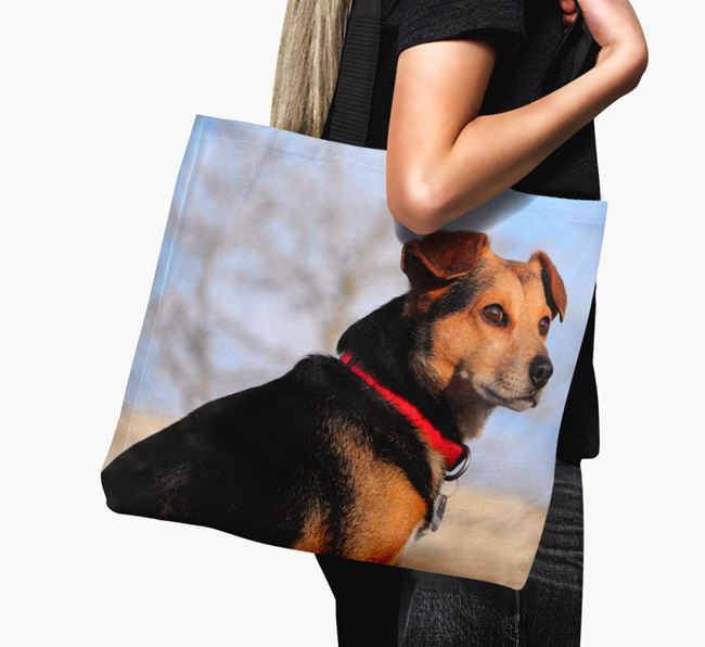Canvas Bag with photo of your Papillon