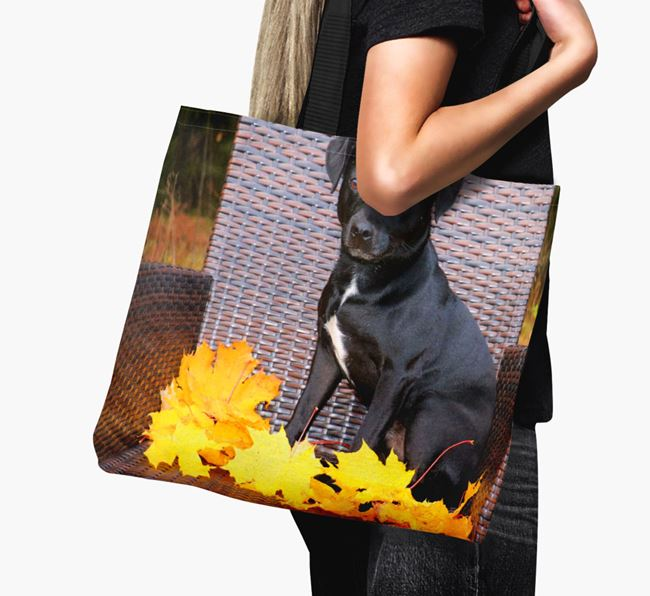 Canvas Bag with photo of your Patterdale Terrier