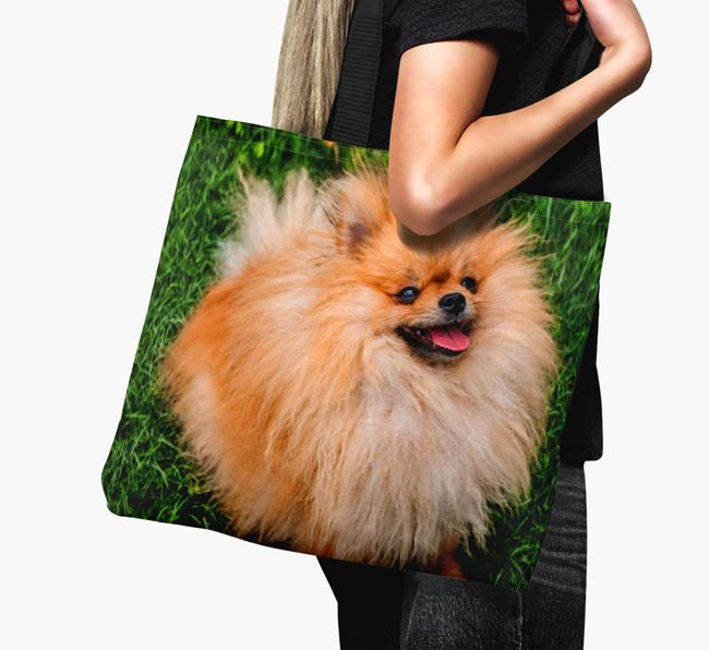 Canvas Bag with photo of your Pomeranian
