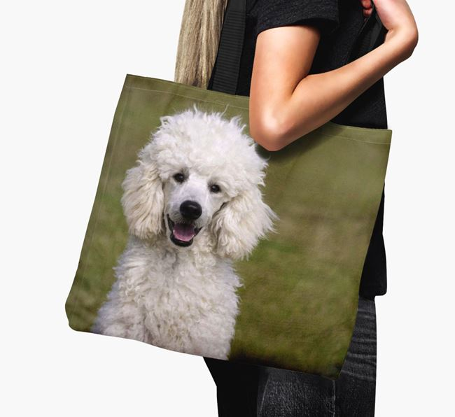 Canvas Bag with photo of your Poodle