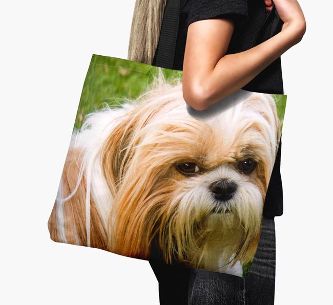 Canvas Bag with photo of your Shih Tzu
