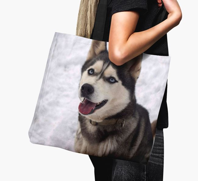 Canvas Bag with photo of your Siberian Husky