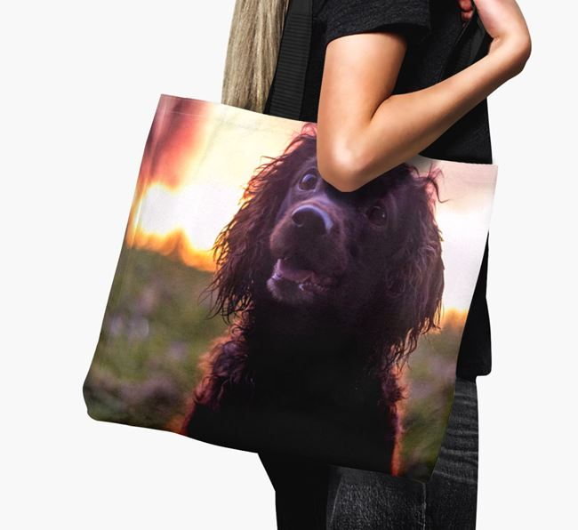 Canvas Bag with photo of your Sprocker