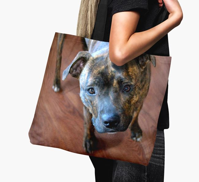Canvas Bag with photo of your Staffordshire Bull Terrier