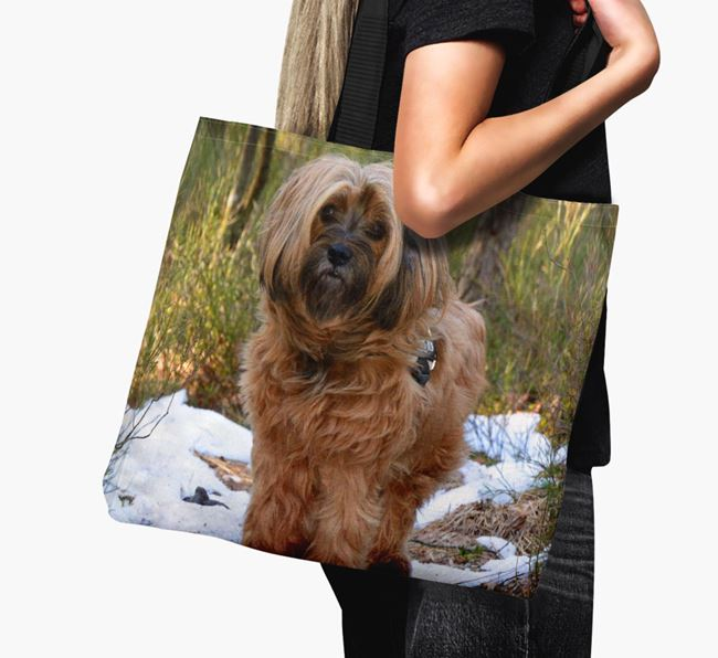 Canvas Bag with photo of your Tibetan Terrier