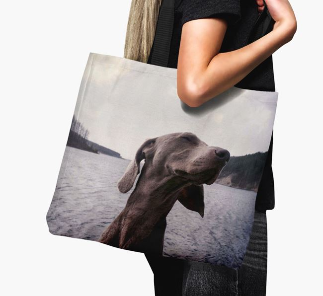 Canvas Bag with photo of your Weimaraner