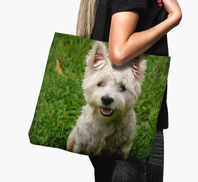 Canvas Bag with photo of your West Highland White Terrier