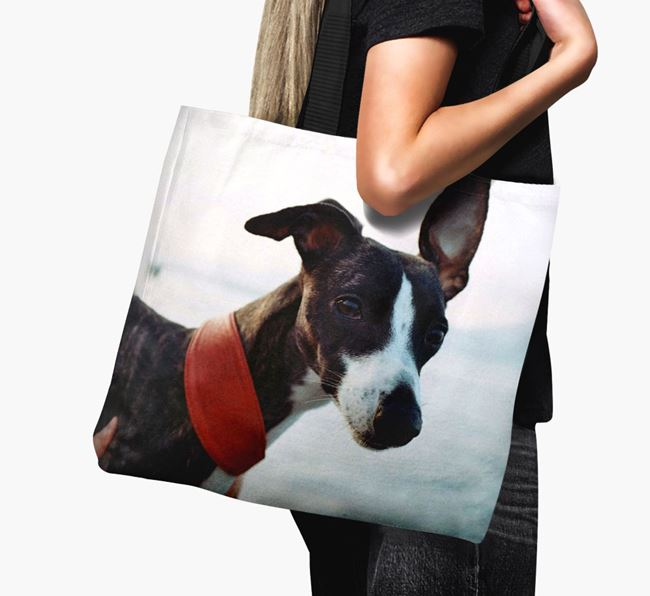 Canvas Bag with photo of your Whippet