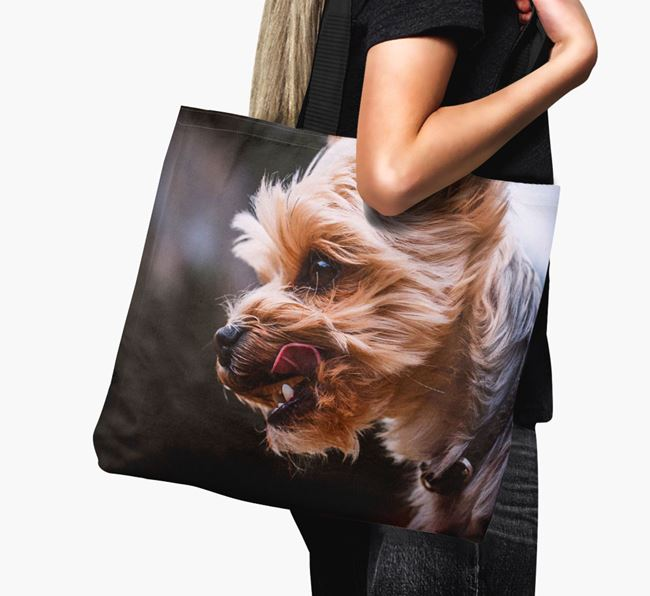 Canvas Bag with photo of your Yorkshire Terrier