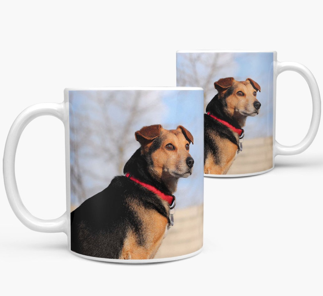 Mug with photo of your Bearded Collie Side View