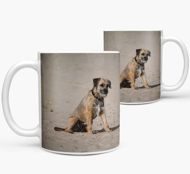 Mug with photo of your Border Terrier