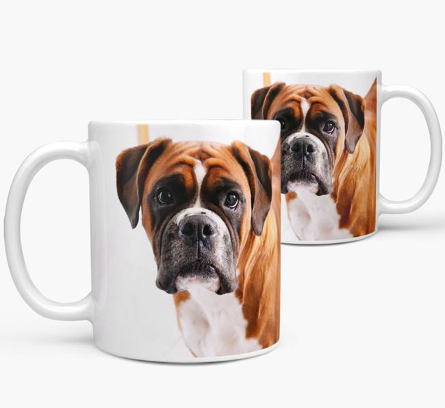 Mug with photo of your Boxer