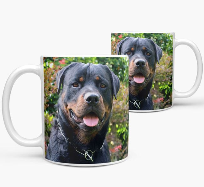 Mug with photo of your Rottweiler