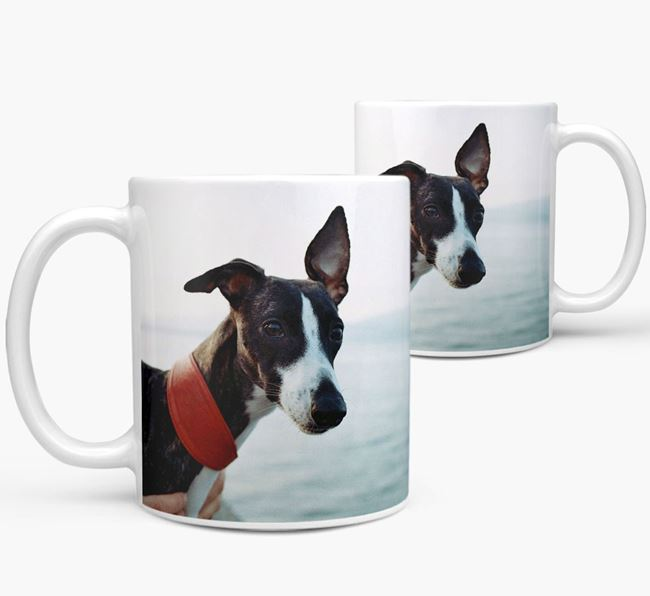 Mug with photo of your Whippet