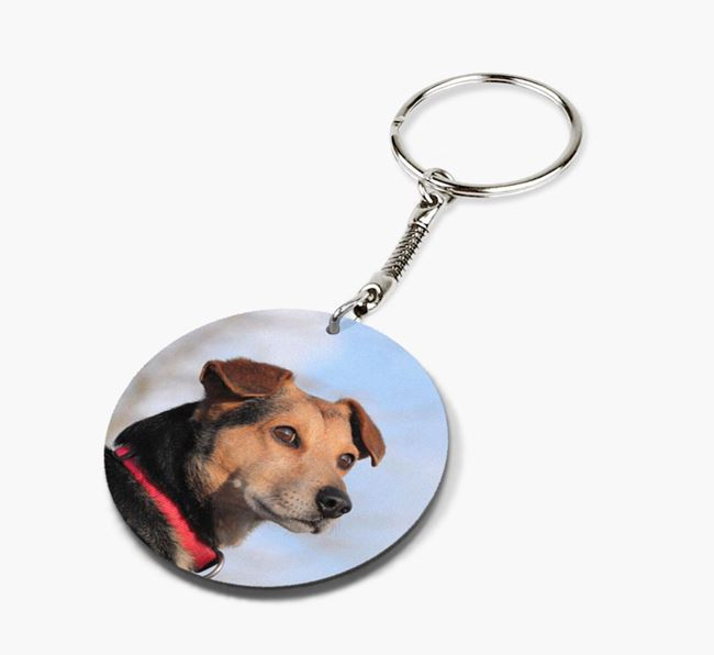 Keyring with photo of your Aussiedoodle