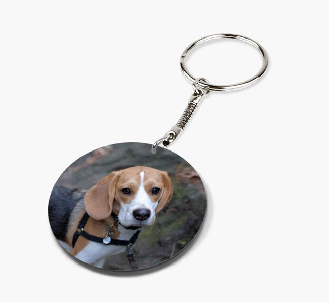 Keyring with photo of your Beagle