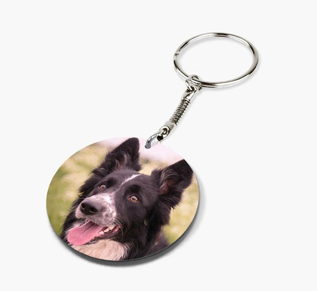 Keyring with photo of your Border Collie