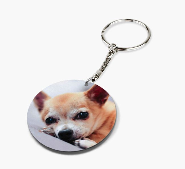 Keyring with photo of your Chihuahua