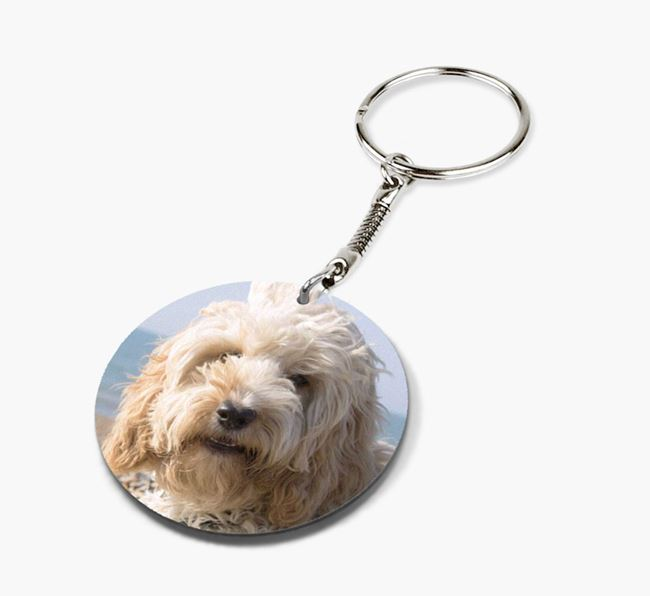 Keyring with photo of your Cockapoo