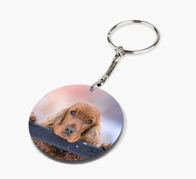 Keyring with photo of your Cocker Spaniel