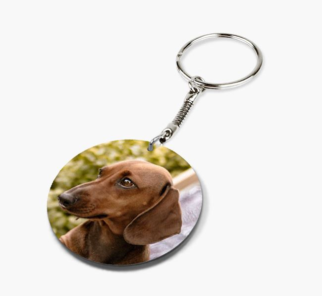 Keyring with photo of your Dachshund