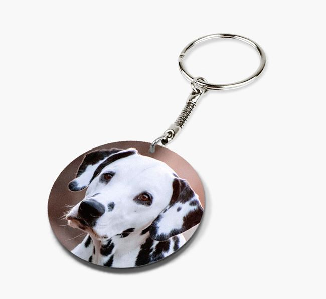 Keyring with photo of your Dalmatian