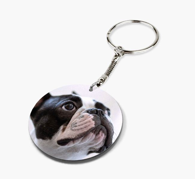 Keyring with photo of your French Bulldog