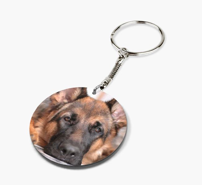 Keyring with photo of your German Shepherd