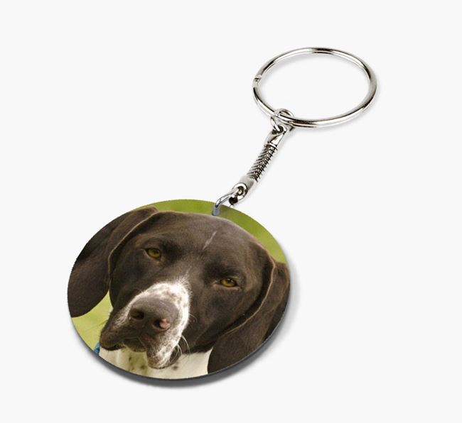 Keyring with photo of your German Shorthaired Pointer