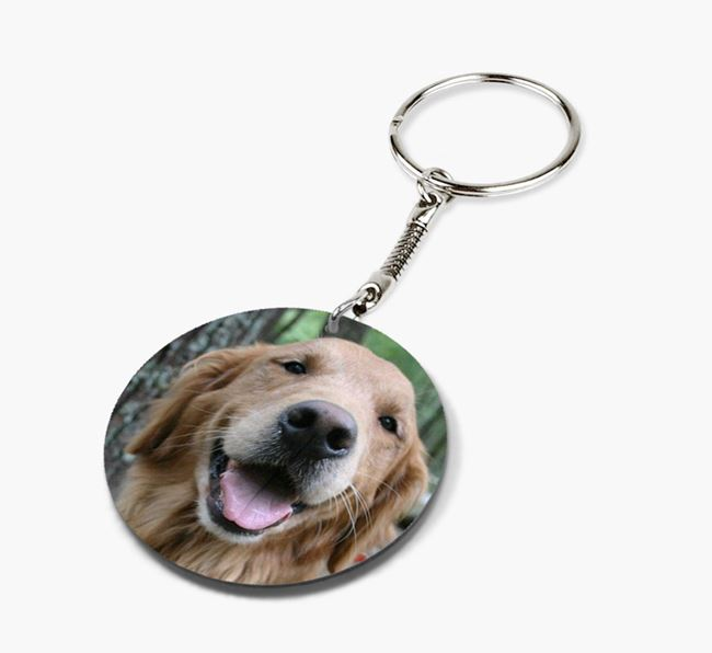 Keyring with photo of your Golden Retriever