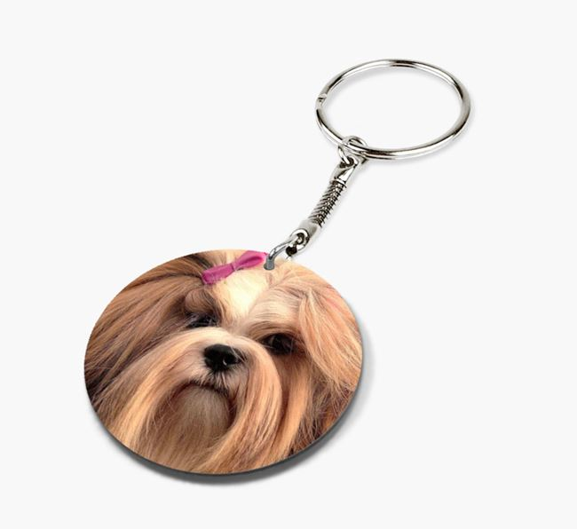 Keyring with photo of your Lhasa Apso